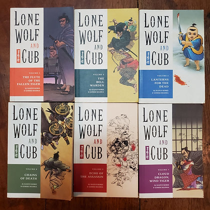 LONE WOLF AND CUB - 6 Book Bundle : Volumes 3,4,6,7,8,9