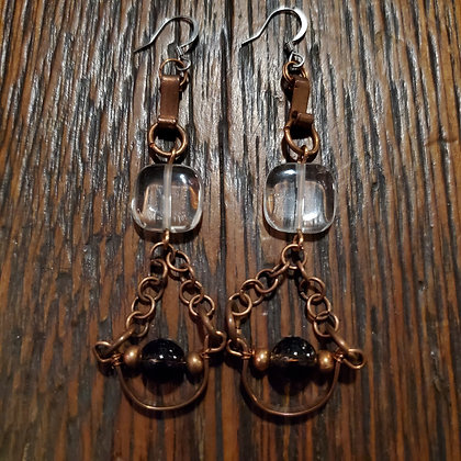 Local Handmade Chain Earings by COPPER BEAR PRODUCTIONS