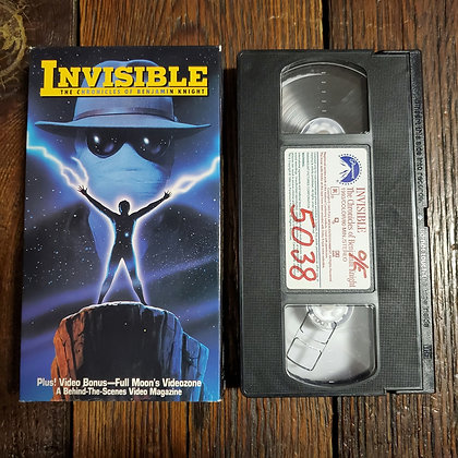 INVISIBLE The Chronicles Of Benjamin Knight - Rare VHS