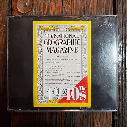NATIONAL GEOGRAPHIC MAGAZINE : The 1940s - 3 CD-ROM Set