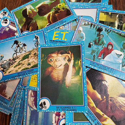 30 x E.T. 1982 Trading Cards