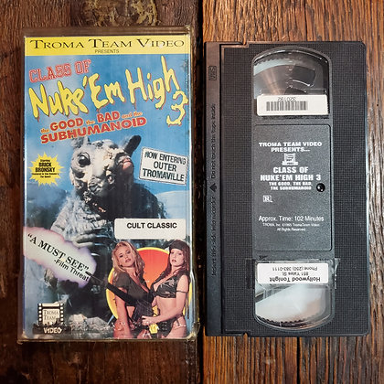 CLASS OF NUKE 'EM HIGH 3 - VHS ex rental