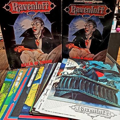 Rare RAVENLOFT Realm of Terror 1990 Box Set (Complete / Fair Condition)