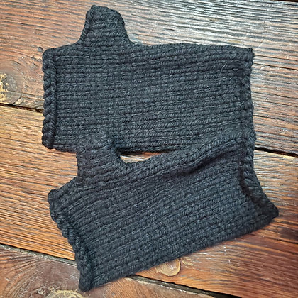 Local Handmade Black Gloves