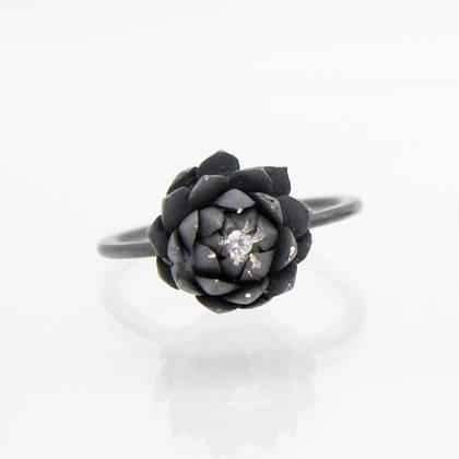 Dark Succulent Ring by BRIX Fine Jewellery (Size 8)