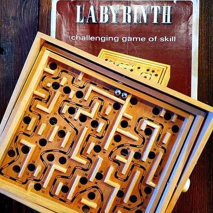 Vintage Wooden LABYRINTH with box