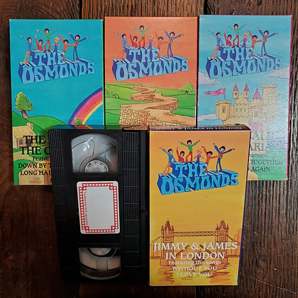 Rare THE OSMONDS - VHS Tapes (Volumes 3 to 6)