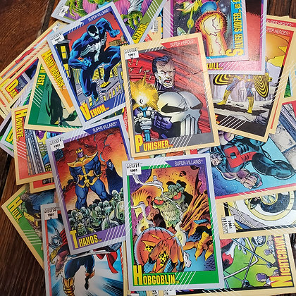 50 x MARVEL 1991 Trading Cards