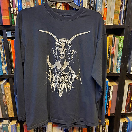 HORNED ALMIGHTY - Large Longsleeve BLACK METAL JESUS Shirt