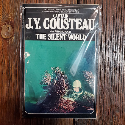 Captain Cousteau, JY : THE SILENT WORLD - Rare Softcover Book