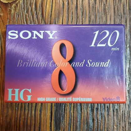 Sealed SONY Video8 Blank 120 minute Tape