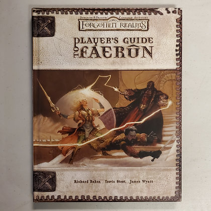 D&D FORGOTTEN REALMS PLAYERS GUIDE  TO FAERUN - Hardcover RPG Book