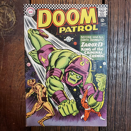 DOOM PATROL Rare 1967 Comic #111