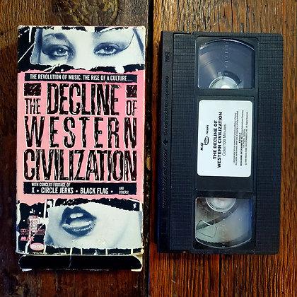 THE DECLINE OF WESTERN CIVILIZATION- Rare Ex Rental VHS