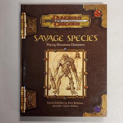 D&D SAVAGE SPECIES - Hardcover RPG Book