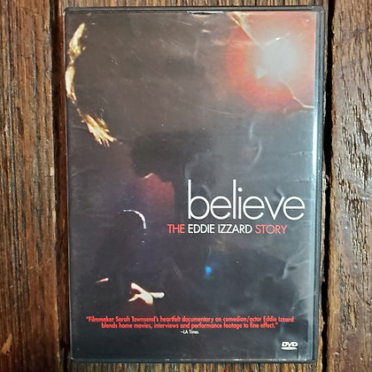 BELIEVE The Eddie Izzard Story DVD