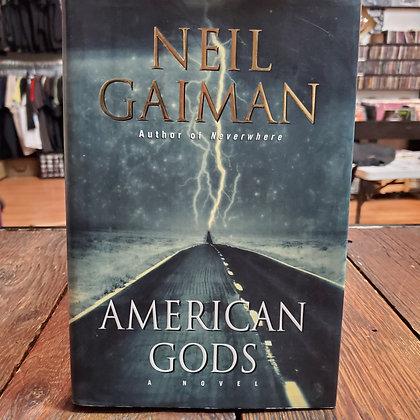 Gaiman, Neil - AMERICAN GODS (Signed 1st Edition)