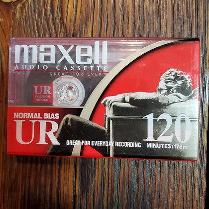 Sealed MAXELL Type 1 UR 120 Blank Cassette Tape