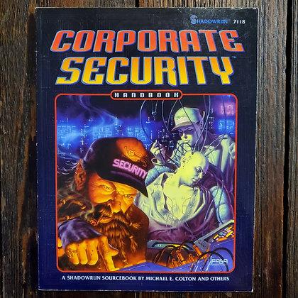SHADOWRUN : Corporate Security Handbook - 1995 RPG BOOK