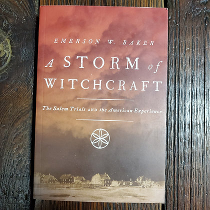 Baker, Emerson W : A STORM OF WITCHCRAFT - Softcover Book