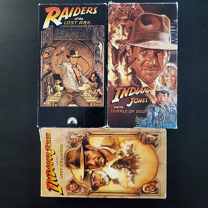 INDIANA JONES TRILOGY - 3 VHS