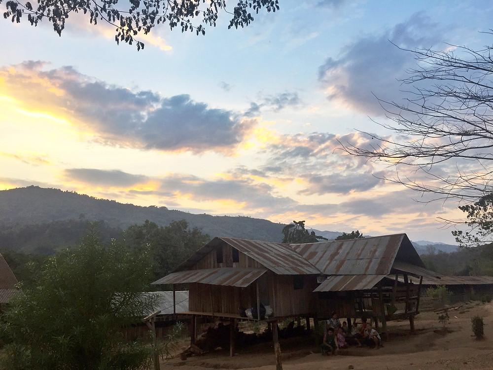 Evening sunset at Day Bu Noh Village