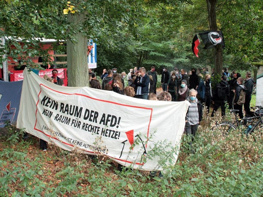"""MOZ Artikel zur Aktion """"Kein Acker der AfD!"""" in Strausberg am 5.9.2020"""