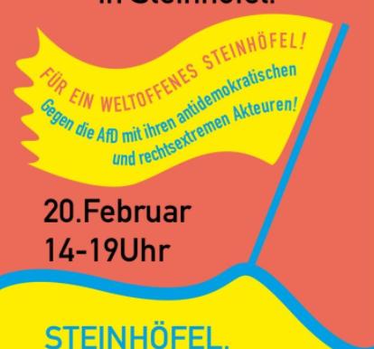 Samstag, 20. Februar: Kundgebung gegen das Treffen des rechtsextremen Flügels der AfD in Steinhöfel!