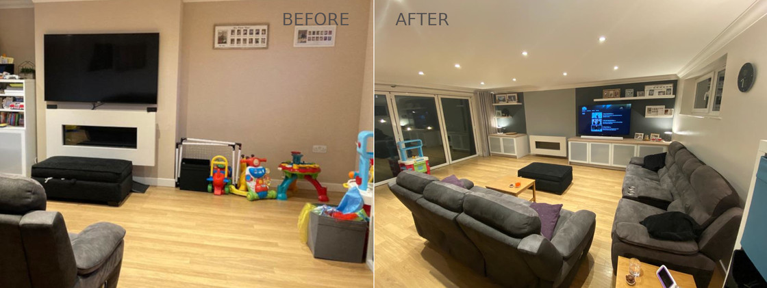 Living Room and Media Centre Design - Dover, Kent 2021
