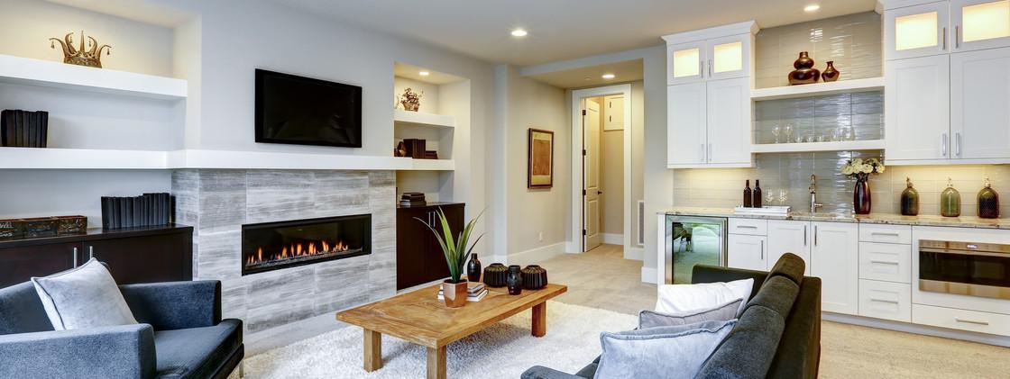 Contemporary Apartment - Living Area - Purley, Surrey 2020