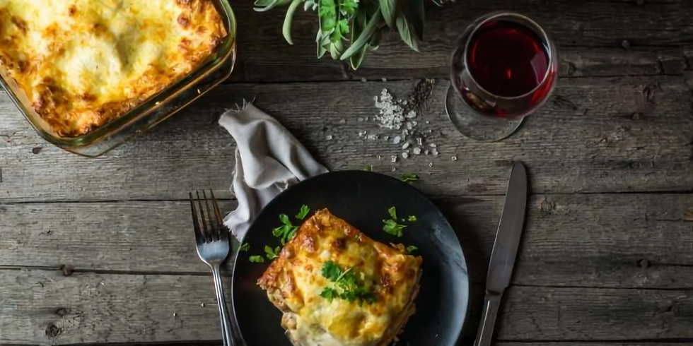 Cooking class: Lasagna 1.01and Wine suggestions