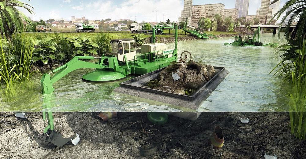 Watermaster NA Amphibious Dredging machine