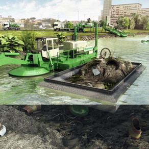Moran Iron Works and Watermaster NA launch first Amphibious Dredging Machine in North America.