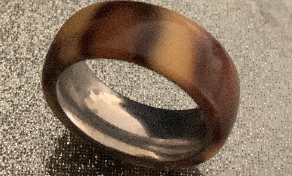 Leopard skin pattern acrylic ring
