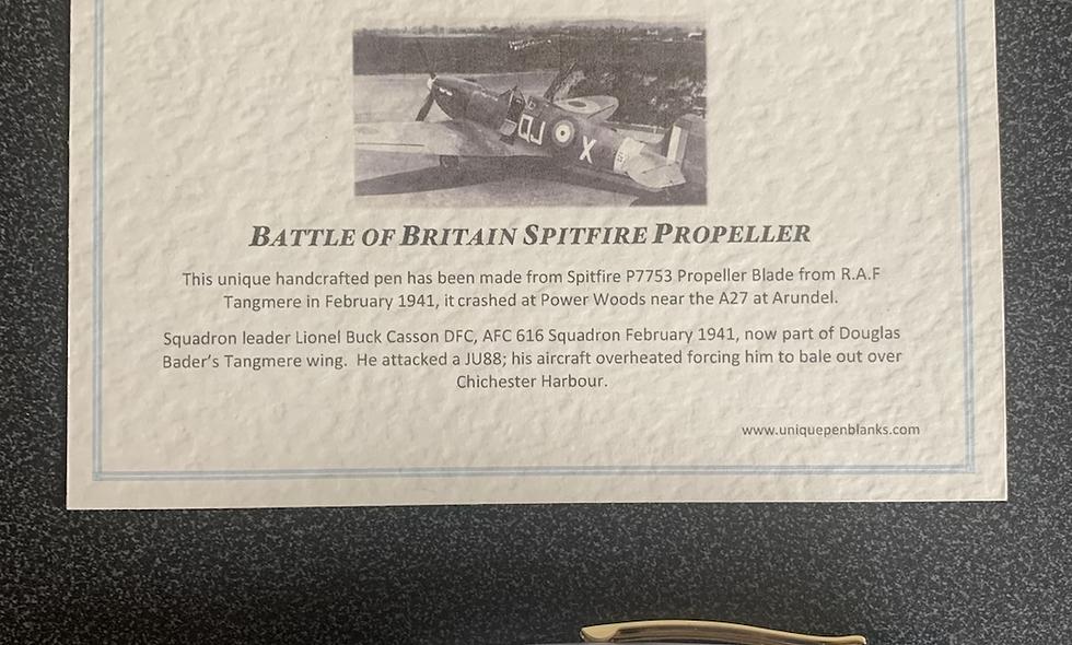 Battle of Britain Spitfire Pen