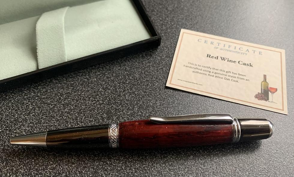 Wine cask pen