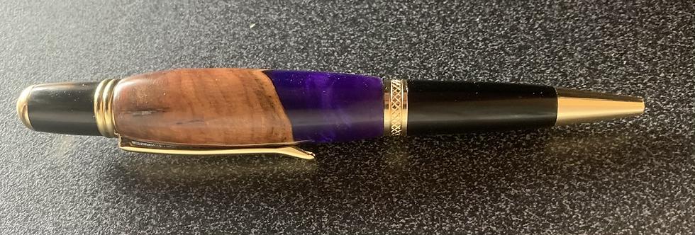 Scottish Elm and resin ballpoint pen