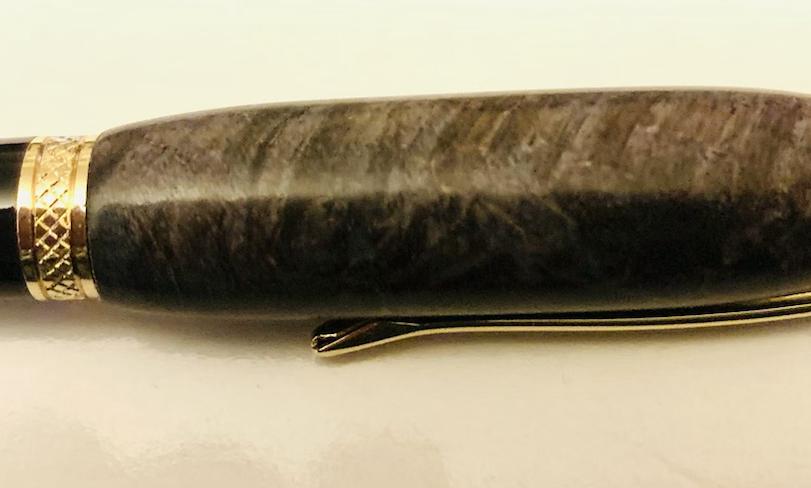 Stabilised maple ballpoint (blue/ grey)