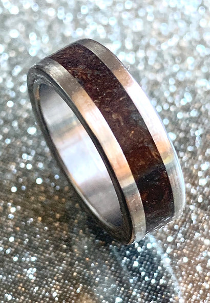Wooden inlay ring