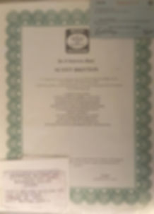 Scott Britton's Certificate
