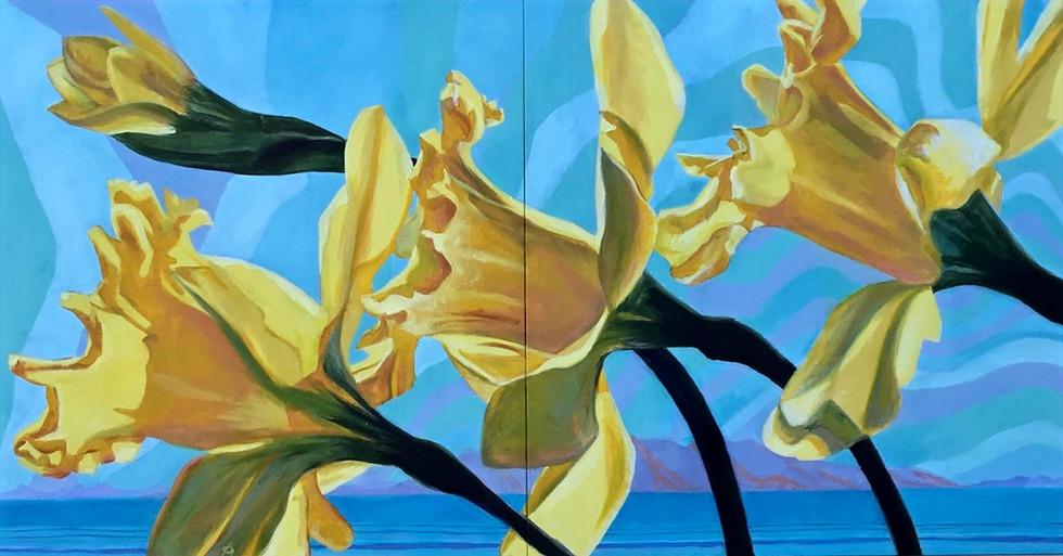 Daffodils & Antelope Island, 2017