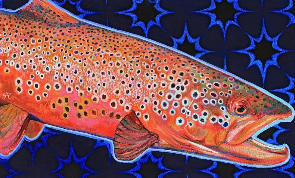 Red Brown Trout Starburst, 2019