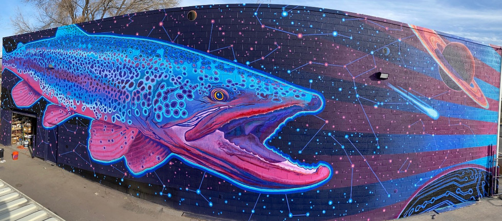 Utopia Mural Project: Space Trout