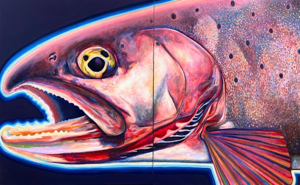 Bonneville Cutthroat Diptych, 2020