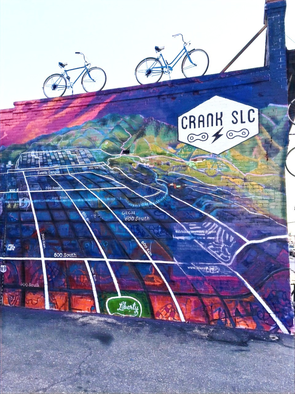 SLC Bikeways Mural, 2016