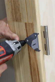 attach door hang brackets
