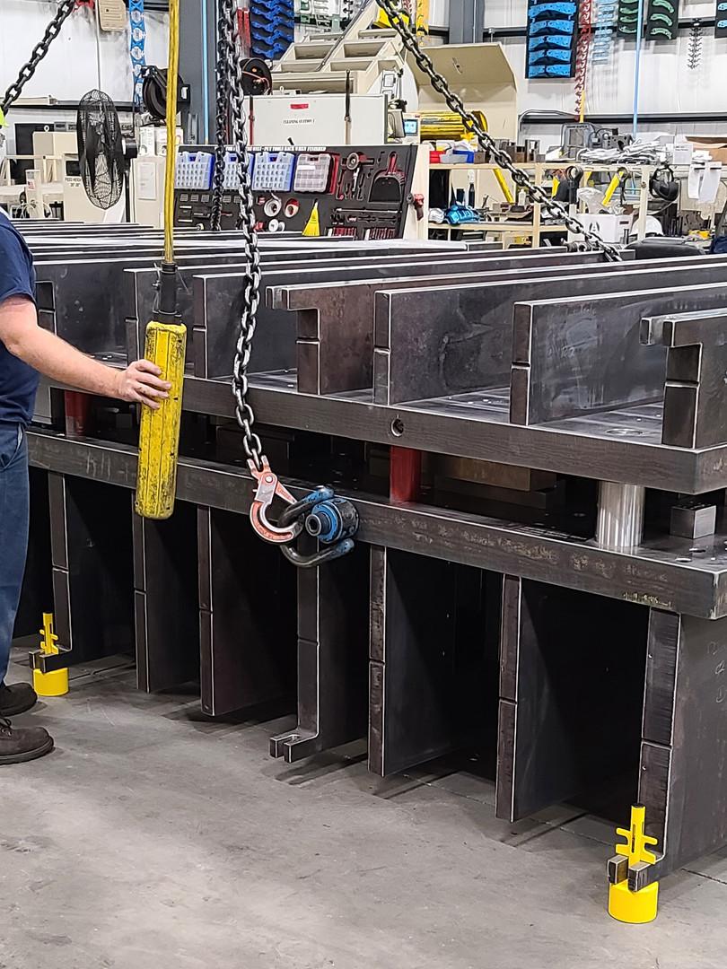 safety storage blocks for stampling dies