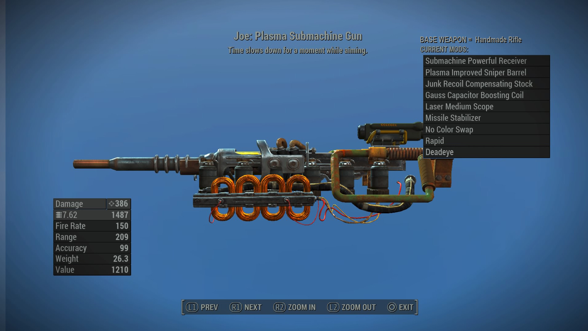 Plasma Sub-machine Gun