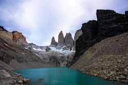 Base of the towers Patagonia