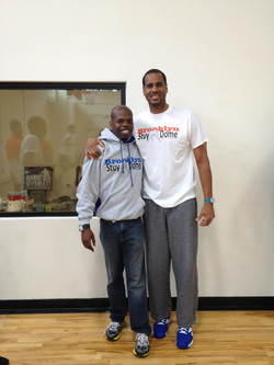 Jason Williams and Pastor Tillman